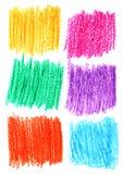 Set för bakgrund för skuggning för blyertspenna för Ð-¡ olour Royaltyfria Bilder