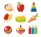 set för barnbilder s Fotografering för Bildbyråer