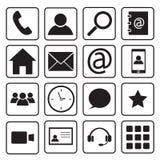 set för del för milo för kommunikationssymbolssymboler Arkivfoto