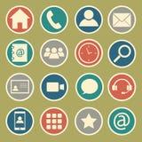 set för del för milo för kommunikationssymbolssymboler Arkivbild