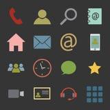 set för del för milo för kommunikationssymbolssymboler Royaltyfria Bilder