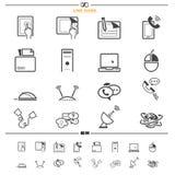 set för del för milo för kommunikationssymbolssymboler Arkivbilder