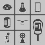 set för del för milo för kommunikationssymbolssymboler stock illustrationer