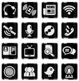 set för del för milo för kommunikationssymbolssymboler Arkivfoton