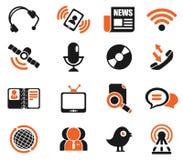 set för del för milo för kommunikationssymbolssymboler Royaltyfri Bild
