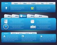 Set för design för rengöringsdukelementvektor Arkivfoto