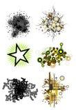 set för designelementgrunge Arkivbilder