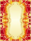 set för drakebrandram royaltyfri illustrationer