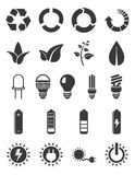 Set för ekologienergisymbol Royaltyfri Foto