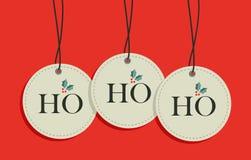 Set för försäljning för julhangetiketter Royaltyfri Fotografi