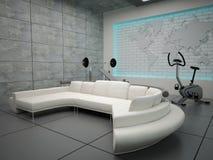 set för femtio interior Arkivfoton