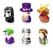 set för folk för avatarsymbolsinternet stock illustrationer