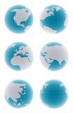 set för jordklot 3d royaltyfri illustrationer