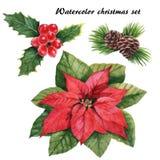 set för juldesignelement Royaltyfri Fotografi