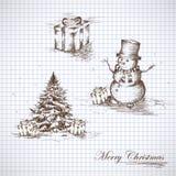 set för juldesignelement Royaltyfria Bilder