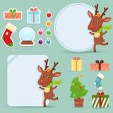 set för juldesignelement Royaltyfri Bild