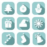 set för juldesignelement Arkivfoton