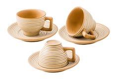 set för kaffekopp Fotografering för Bildbyråer