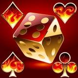 set för kasinoobjekt s Arkivbilder