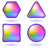 set för knappsymbolsregnbåge Vektor Illustrationer
