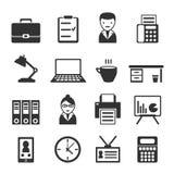 set för kontor för tillbehörmappsymbol vektor illustrationer
