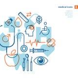 set för läkarundersökning för designsymbolsbild Royaltyfri Bild