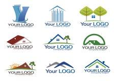 set för logo för gods eps8 verklig royaltyfri illustrationer