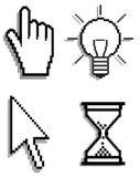 set för markörsymbolsinternet Arkivbild