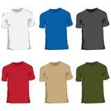 Set för Menâs t-shirtsamling Fotografering för Bildbyråer