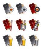 set för meny för 47 designelementsymboler Fotografering för Bildbyråer