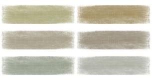 set för neutral för grunge för banerjord urblekt grå Royaltyfri Bild