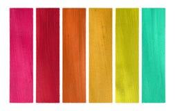 set för papper för färger för banergodiskokosnöt Arkivfoton