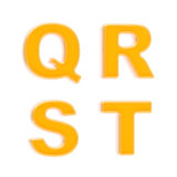 set för plast- för glansiga bokstäver för abc fyra orange Arkivbilder