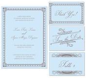 Set för ram för vektortappningbröllop vektor illustrationer