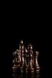 set för schackkonungdrottning Fotografering för Bildbyråer