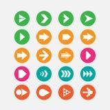 set för serie för grön symbol för pil röd Royaltyfri Foto