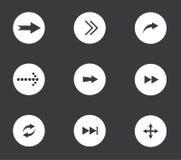 set för serie för grön symbol för pil röd Arkivfoton