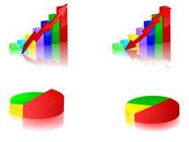 set för stångdiagrampie vektor illustrationer