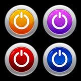set för ström för knappeps-symbol Royaltyfri Fotografi