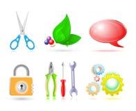 set för symbol 3d Arkivbild