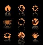 set för symbol för 3 designelement Royaltyfri Fotografi
