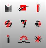 set för symbol för 4 designelement stock illustrationer