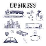 set för symbol för affärsaffärsmanfinans Vektor Illustrationer