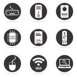 Set för symbol för datormaskinvara Fotografering för Bildbyråer