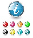 set för symbol info stock illustrationer