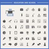set för utbildningssymbolsskola arkivfoton