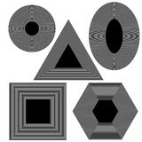 Set f Different Geometric Shapes Royalty Free Stock Photos