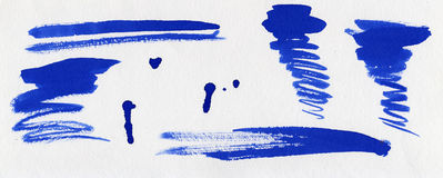 set för blått färgpulver för blots Royaltyfri Bild