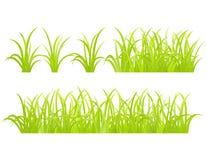 set för elementgräsgreen Arkivfoto
