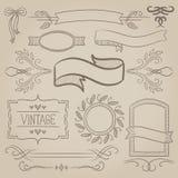 Set faborki, ramy i elementy rocznika, Obraz Royalty Free